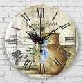 living room decoration large size wall clock absolutely sile