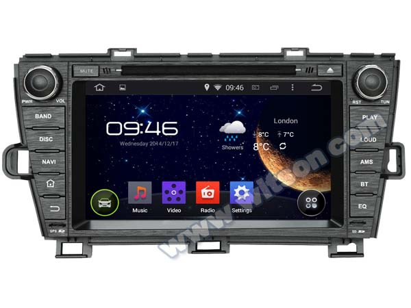 """8"""" Android 4.4.4 OS Special Car DVD for Toyota Prius 2009/2010/2011/2012/2013 with Rockchip 3066 Cortex A9 Dual-Core CPU(China (Mainland))"""