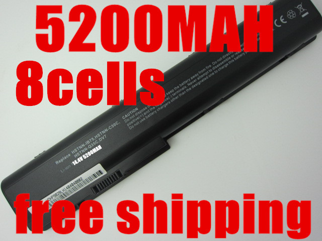 5200MAH 8cells laptop battery forHP Pavilion DV7 DV7-1000 DV7-3000,Pavilion DV8 DV8-1000,FOR HP HDX18 HDX18-1000 HSTNN-C50C(China (Mainland))