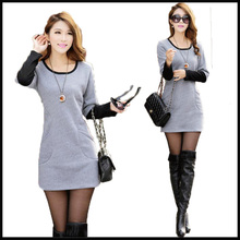 free shipping women winter and spring quality slim dresses casual style 2015 new arrival  25(China (Mainland))