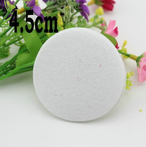 White Color 4.5cm Round Fabric Felt Circles Pads for Flower non-woven Fabric Pads DIY Flower Accessories 1000pcs/lot(China (Mainland))
