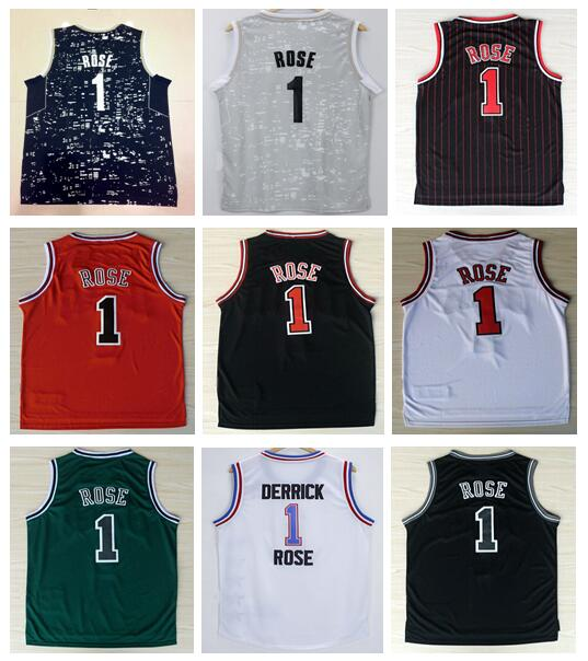 Cheap Wholesale #1 Derrick Rose Jersey 2016 New Material Rev 30 Basketball Jersey Best Quality Authentic Jersey Accept Mix Order(China (Mainland))