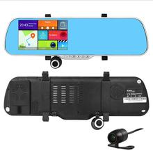 5 дюймов андроид GPS навигация видеорегистратор радар-детектор зеркало заднего вида DVR FHD 1080 P Android 4.4.2 Allwinner 23 двухъядерный DDR3 8 г