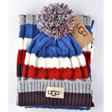 Fashion 2015 Winter Scarf Hat Knitted Scarfs And Hats Set For Women Thicken Knitted cap Scarf Best Quality Christmas gift ugi(China (Mainland))