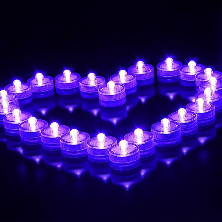10pcs/lot Romantic Waterproof Submersible LED Tea Light Electronic Candle Light for Wedding Party Christmas Valentine Decoration(China (Mainland))