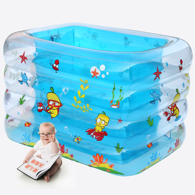 2014 sale special offer inflatable square plastic striped baby swimming pool 1002 inflatable bathtub(China (Mainland))