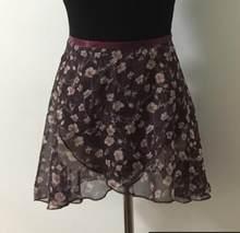 Балетная юбка для танцев новый стиль взрослых и детей шифон цветок Практика танцевальная пачка для женщин цветочный принт балетное платье(China)
