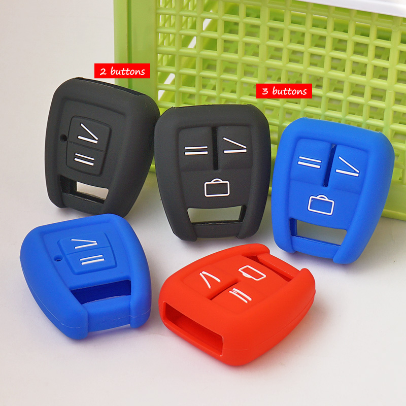 Silicone Rubber key fob cover skin set case shell protect for Opel Astra Zafira Vauxhall Vectra Omega 2 3 Buttons Remote Repair(China (Mainland))