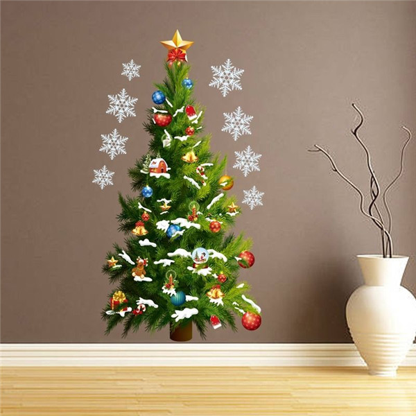 NEW Special Offer Christmas Tree Art Decal Wall Sticker PVC Removable Mural Stickers Home Decoration Room Decor(China (Mainland))