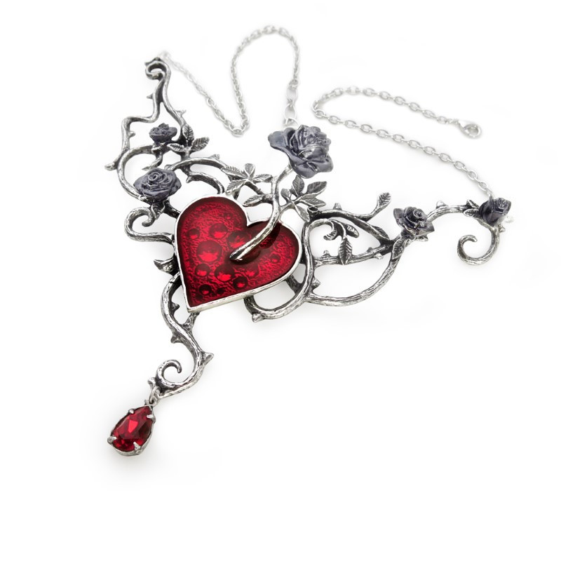 Heart of Blood Roses Chokers Necklace