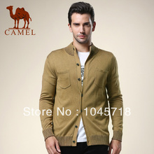 New arrival camel men's clothing straight long-sleeve sweater male cardigan outerwear(China (Mainland))
