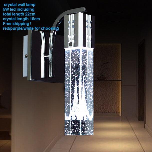 2015 Minimalist Led Crystal Bedroom Mirror Lamp /H22CM