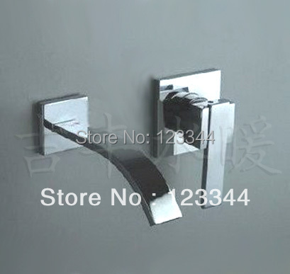 Copper basin faucet cold and hot water taps wall-mounted faucets(China (Mainland))