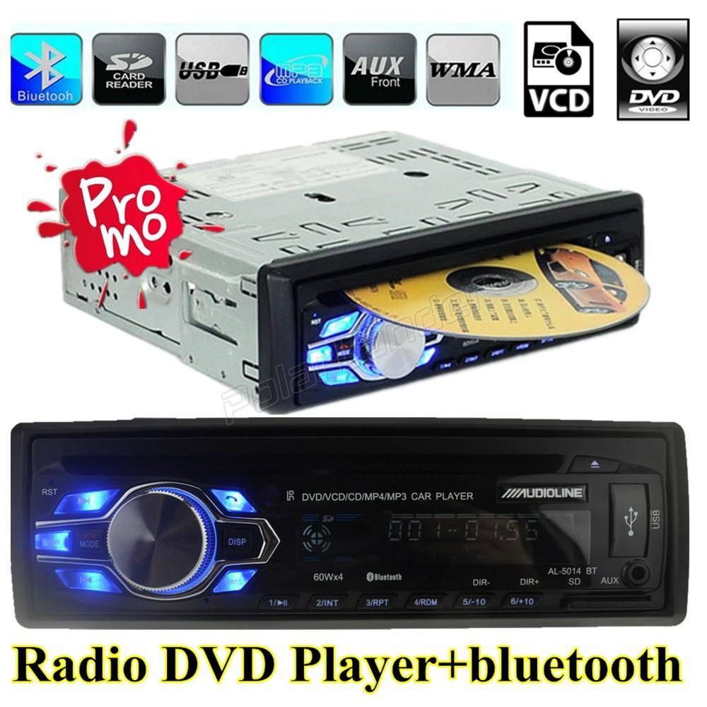 Фотография 2015 New Arrival  Automatic Car Radio Bluetooth DVD/VCD/CD/FM Radio 5V Cellphone charger  handfree usb mp3 MP3 Player 12V audio