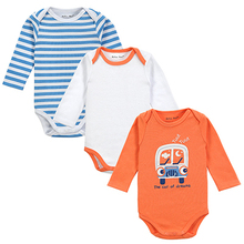Fantasia Infantil 3Pieces lot Baby Body 100 Cotton 4 Styles Cute Animal Trimmed Baby Boy Clothes