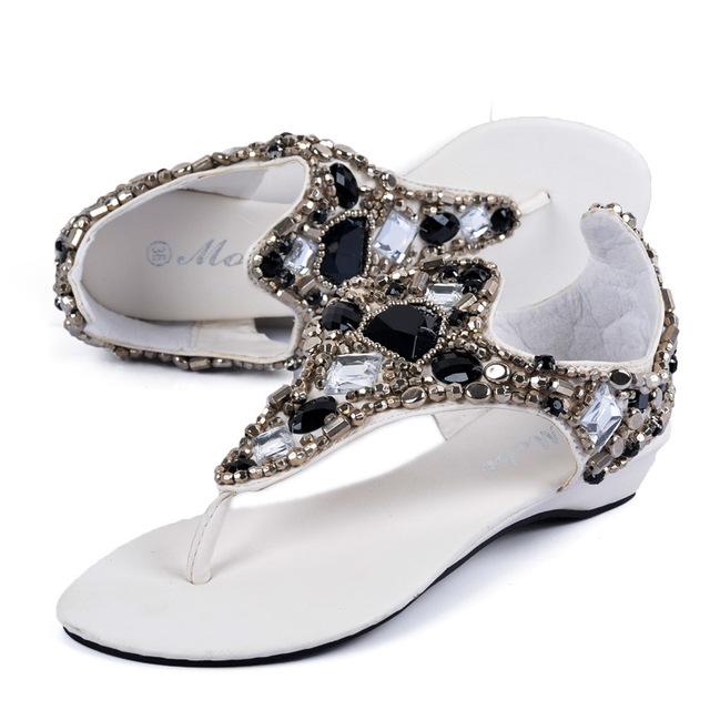 Обувь женщина мода большой горный хрусталь рим обувь женские ботинки клин сандалии ...