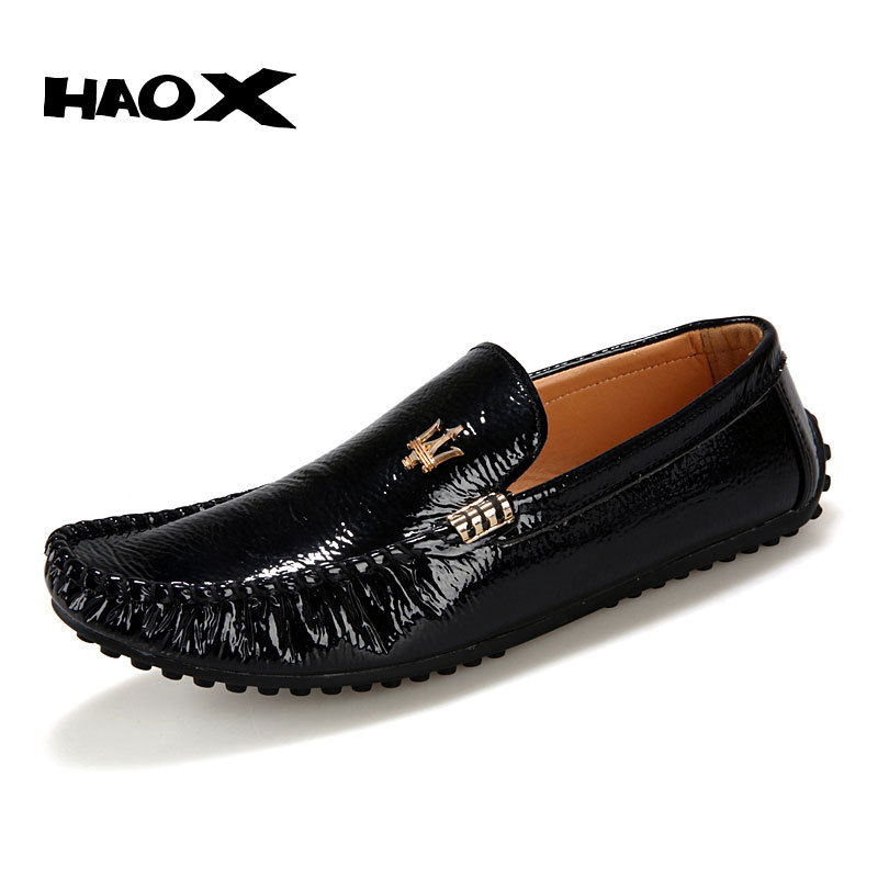 HAOX Hot Sale Genuine Leather Men's Loafers Shoes Fashion Dress Driving Work Shoes Famous Designer Men Flats Shoes Aone-K399(China (Mainland))