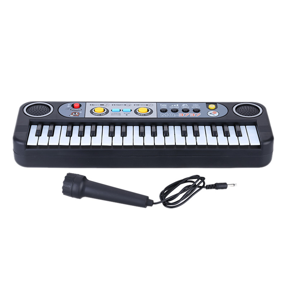 New 37 Keys Multifunctional Mini Electronic Keyboard Music Toy with Microphone Educational Electone Musical Toy Gift for Kids(China (Mainland))