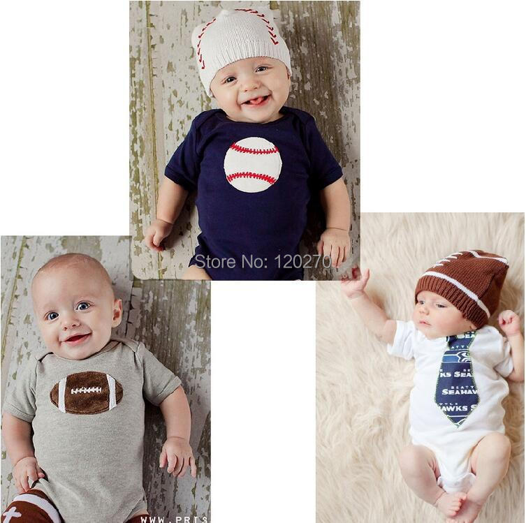 Free Shipping Summer Baby Boys Baseball Rugby Tie One-Piece Romper Newborn Infant Toddler Children Jumpsuit Cotton Kids Clothes(China (Mainland))