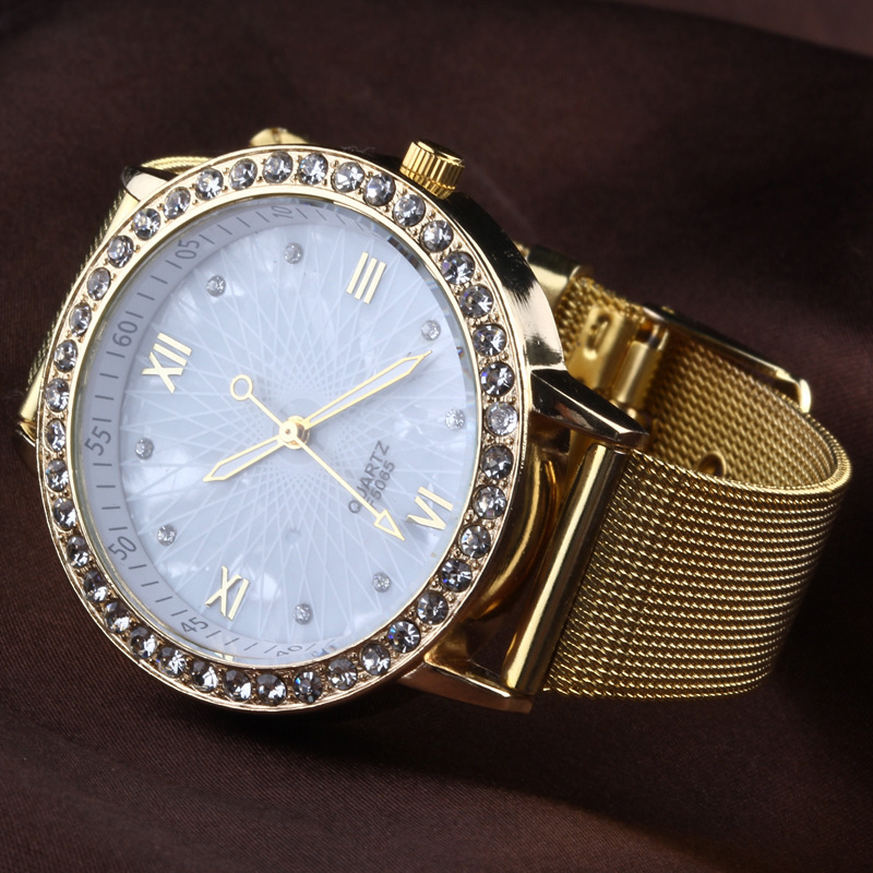 Hot Sale!!Women Rhinestone Watches Women Dress Diamonds Luxury Brand Ladies Marble Mirror Quartz Clock AL1 - Qomolangma International Co.,Ltd store