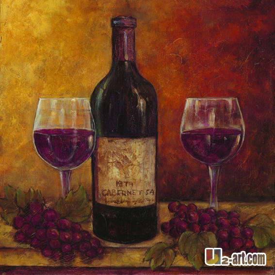 The gallery for wine bottle painting for Paint vino