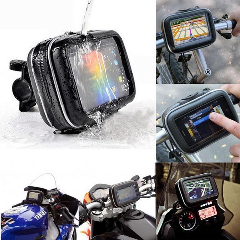 High Quality Bicycle Motor Bike Motorcycle Handle Bar Holder Waterproof Case Bag 4.3inchs For Garmin Magellan GPS Phone(China (Mainland))