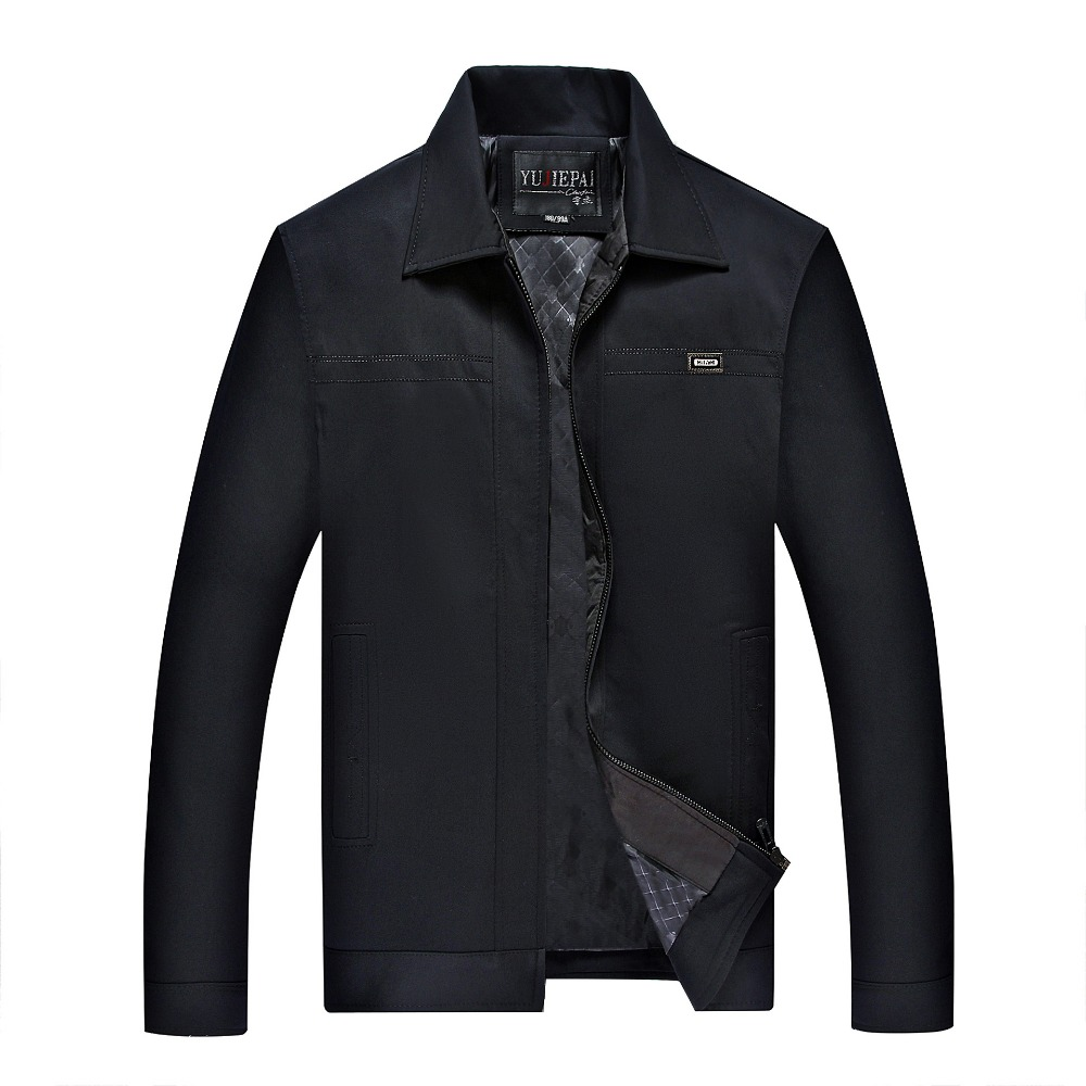 2017 Men Fashion Coat Mens Causal Jacket Coat Men's Spring Warm Overcoat Outwear Zipper Turn-down Collar Male Jacket Plus Size(China (Mainland))