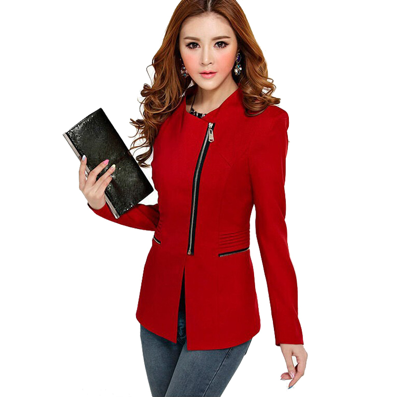 2015 New Design Womenu0026#39;s Long Sleeve Short Winter Jacket Zipper Jackets Female Coat Women Clothes ...