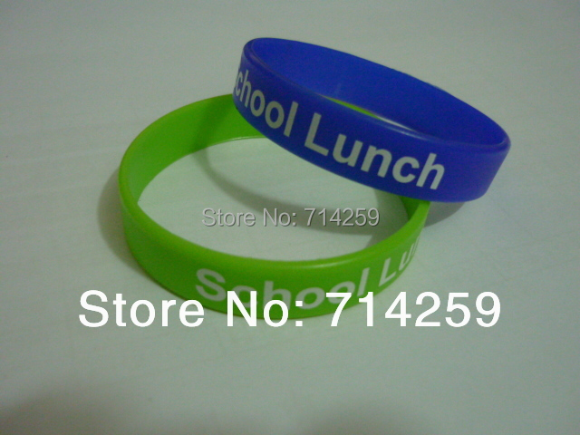 Wholesale - 100pcs custom one color print texts & logo rubber wristbands P111011 silicone bracelet for events & promotion gift(China (Mainland))