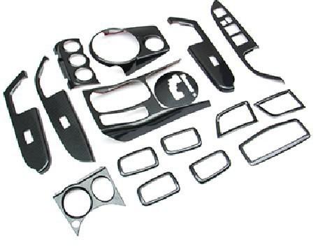 2011-2013 Mitsubishi ASX LHD carbon fiber interior outlet door handle automatic gear panel cover decoration Trims 16 pcs kit(China (Mainland))