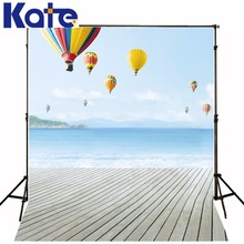 300CM*200CM(about 10ft*6.5ft) fundo Rainbow hot air balloon flying3D baby photography backdrop background LK 1715 - Background design room Store store
