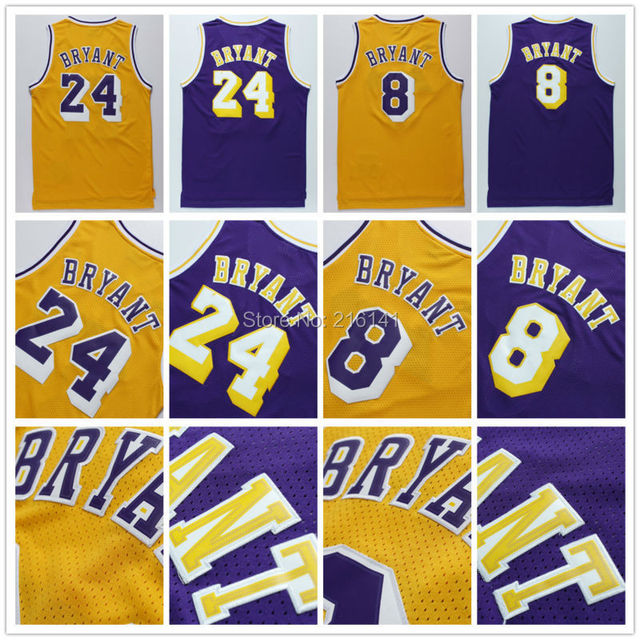 Online Shop Stitched Los Angeles #24 Kobe Bryant Retro Jerseys #8