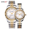 LONGBO Luxury Lovers Couple Watches Men s Calendar Waterproof Watch Women Fashion Gold Stainless Steel Wristwatch
