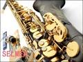 France Henri Selmer R54 Saxophone Alto Instruments Musical Professional Black Nickel Sax Alto Gold Bonded Grind