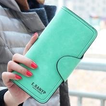 New Women Long Wallet Candy Colored PU Leather Wollets Ladies Clutch Handbag Letter Simple Coin Purse Card & ID Holder(China (Mainland))