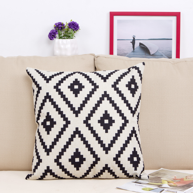 animal plant print sofa chair cushion 45