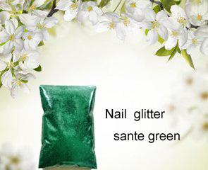 50g/bag Sante Green Color Shining Nail Glitter Dust Powder for Nail Art DIY decoration-Free Shipping(China (Mainland))