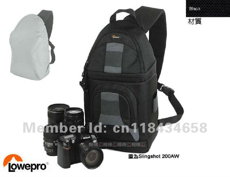 Brand New 100% Genuine Lowepro SlingShot 200 AW Shoulder Camera Bag Backpack with All Weather Coveg ( Black )(China (Mainland))