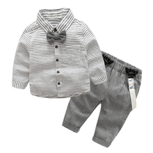 Buy 2pcs Toddler Kids Clothing Set Baby Boys Gentlemen Bowknot Shirt + Suspender Pants Outfit Boys Fashion Clothes AO#P for $12.02 in AliExpress store