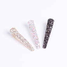 Buy New Fashion Women Hair Clips Alloy Crystal Hairpins Black Barrettes Girls Elegant Hairgrips Hair Accessories Woman for $1.05 in AliExpress store