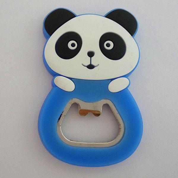 NEW Fashion Cartoon Panda Blue Bottle Opener Refrigerator Fridge Magnet Sticker Ornament Craft Souvenir Collection Gift(China (Mainland))