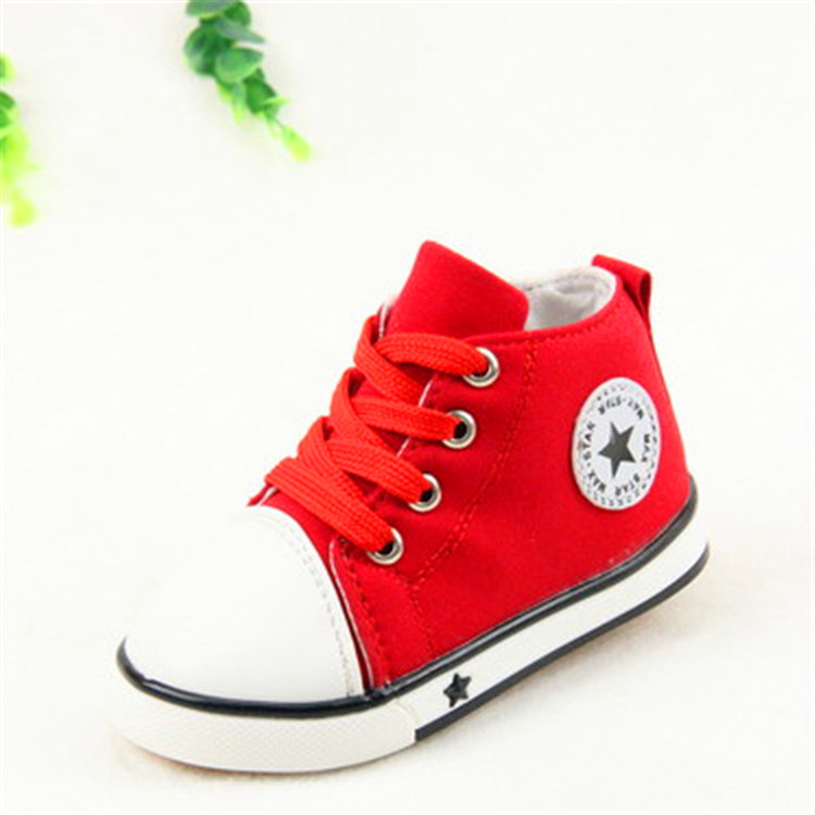 Spring 2016 new stars children s classic canvas shoes lace zipper shoes vulcanized high low leisure