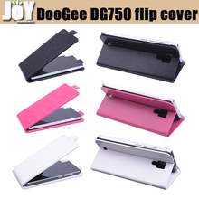 New 2015 Free shipping mobile phone bag PU leather DooGee IRON BONE DG750 Flip case cover mobile phone accessories three colors