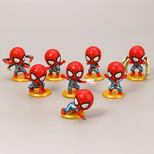 8 pçs/lote os vingadores marvel superheros homem aranha regresso a casa mini figuras de ação brinquedos(China)