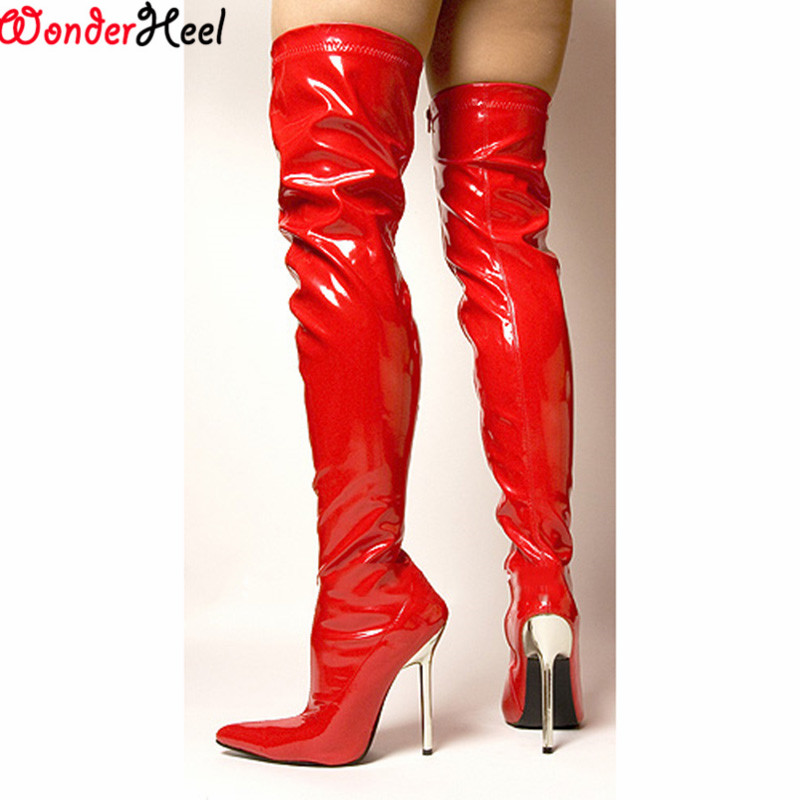 pvc thigh high boots promotion shop for promotional pvc