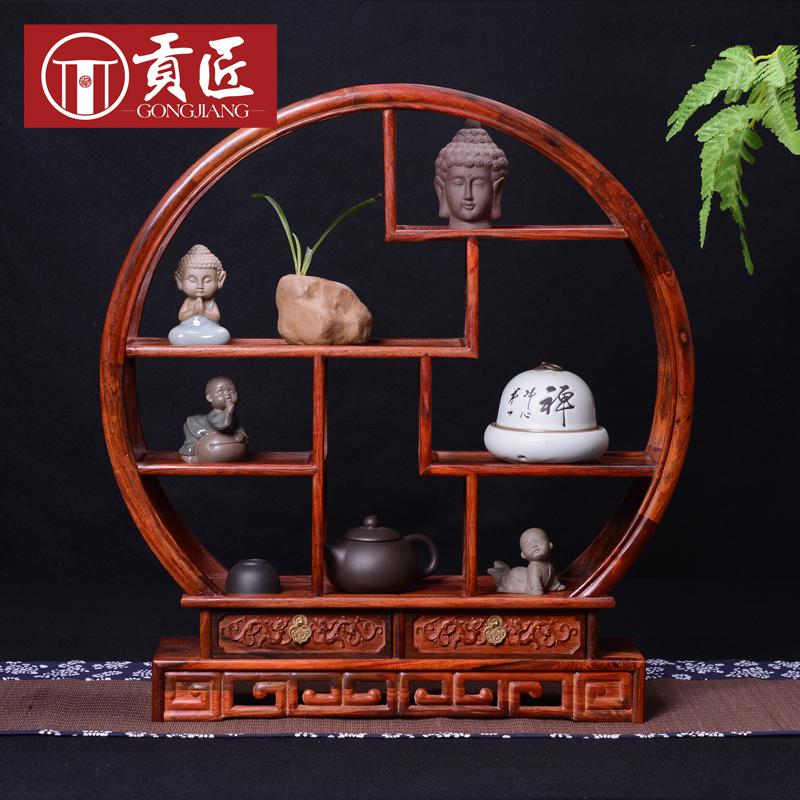 Здесь можно купить  Rosewood small circular mahogany furniture Shelf antique Chinese antique wood frame Home Decoration  Мебель