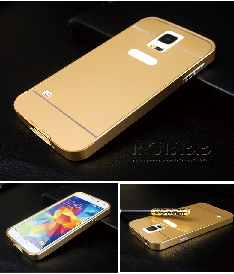 5 DHL FREE Original Metal Gold Case Samsung Galaxy S5 i9600 Aluminum +Plastic hard Back Cover Luxury - Shenzhen Kobee Plastic Rubber Product Limited store