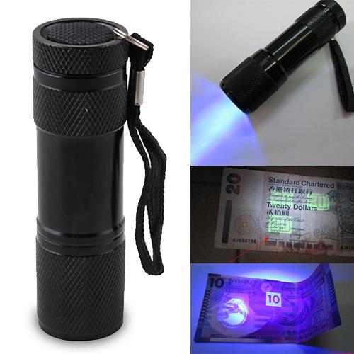 Ультрафиолетовая лампа FTF Blacklight 9LED 3AAA UV 9 LED Flashlight лампа ультрафиолетовая uv 18w