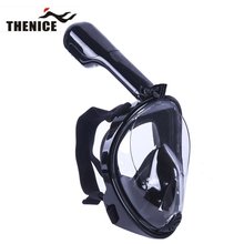 THENICE Full Face Scuba Diving Mask Snorkel Easy Breath Goggles Set Dry Snorkeling Swimming Fishing Equipment Underwater Sport