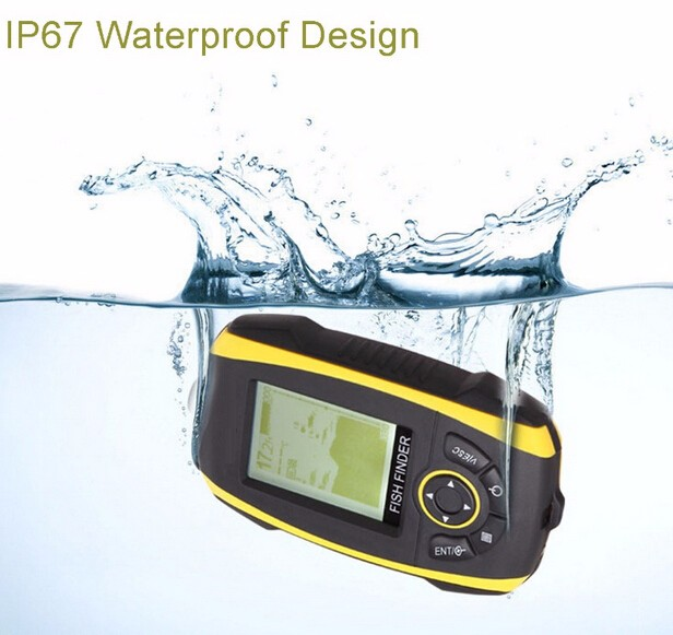 Wireless sonar fish finder built in lithium battery for Battery powered fish finder